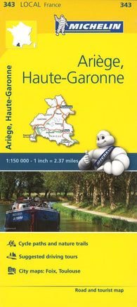 Buy map Arige, Haute Garonne, France (343) by Michelin Maps and Guides