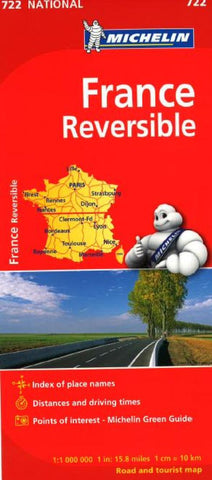 Buy map France, Reversible (722) by Michelin Maps and Guides