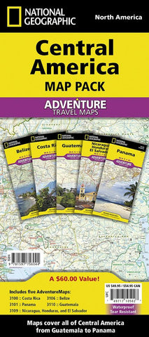 Buy map Central America, Map Pack Bundle by National Geographic Maps