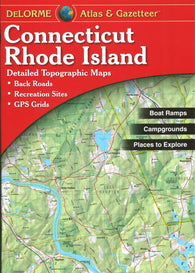 Buy map Connecticut and Rhode Island Atlas and Gazetteer by DeLorme
