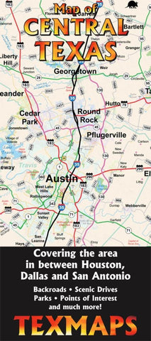 Buy map Texas, Central by Texmaps