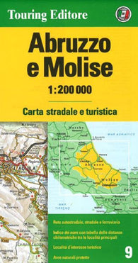 Buy map Abruzzo and Molise, Italy by Touring Club Italiano