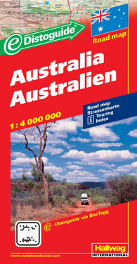 Buy map Australia with Distoguide by Hallwag