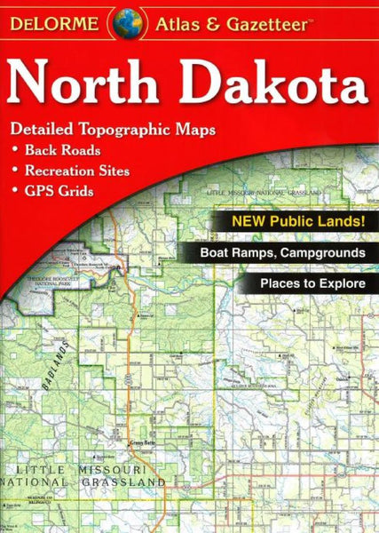 Buy map North Dakota Atlas and Gazetteer by DeLorme