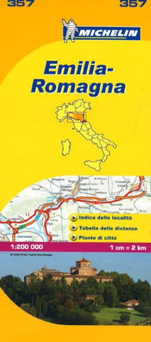 Buy map Emilia Romagna, Italy (357) by Michelin Maps and Guides