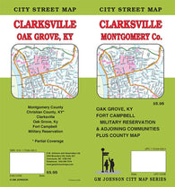Buy map Clarksville and Montgomery County, Tennessee by GM Johnson