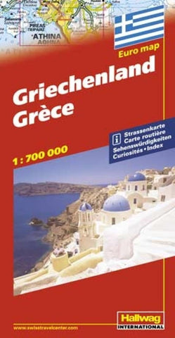 Buy map Greece by Hallwag