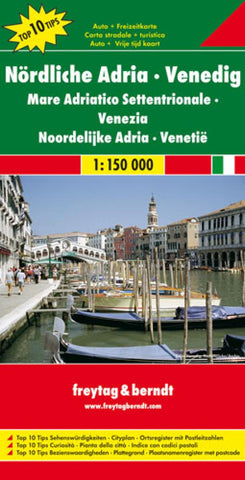 Buy map Italy, Northern Adriatic Sea and Venice by Freytag-Berndt und Artaria