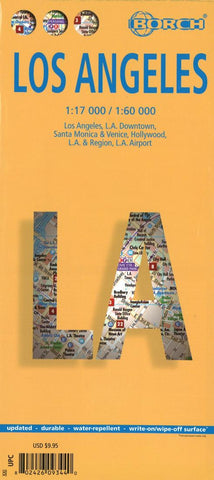 Buy map Los Angeles, California by Borch GmbH.