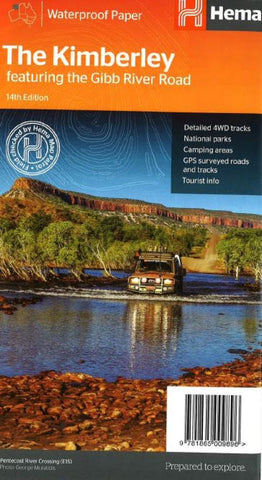 Buy map The Kimberley, Australia, featuring the Gibb River Road by Hema Maps