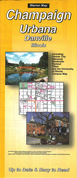 Buy map Champaign, Urbana and Danville, Illinois by The Seeger Map Company Inc.
