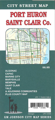 Buy map Port Huron and Saint Clair County, Michigan by GM Johnson