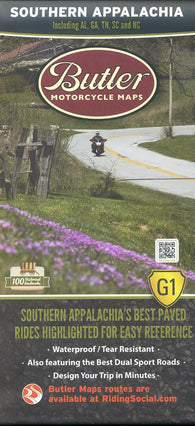 Buy map Southern Appalachia Map by Butler Motorcycle Maps