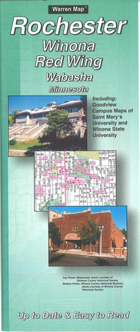 Buy map Rochester, Winona, Red Wing and Wabasha, Minnesota by The Seeger Map Company Inc.