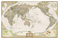 Buy map World, Executive, Pacific-Centered, Tubed by National Geographic Maps