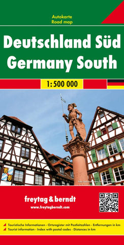 Buy map Germany, Southern by Freytag-Berndt und Artaria