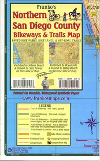 Buy map California Map, San Diego Bikeways, Northern, folded, 2010 by Frankos Maps Ltd.