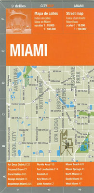 Buy map Miami, Bilingual City Map by deDios