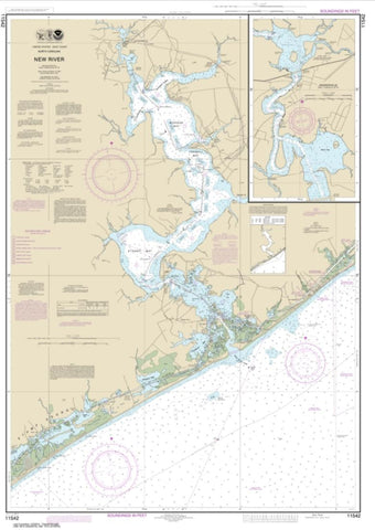 Buy map New River; Jacksonville (11542-19) by NOAA
