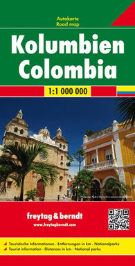 Buy map Colombia Road Map by Freytag-Berndt und Artaria