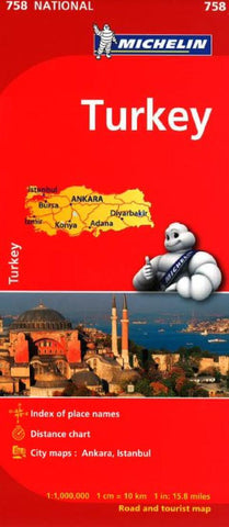 Buy map Turkey (758) by Michelin Maps and Guides