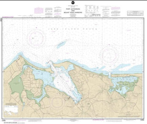 Buy map Port Jefferson and Mount Sinai Harbors (12362-17) by NOAA