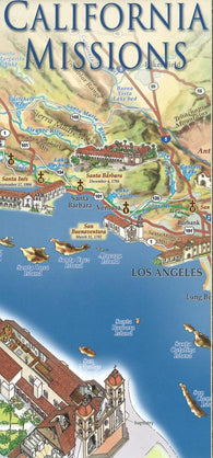 Buy map California Missions Map by East View Press