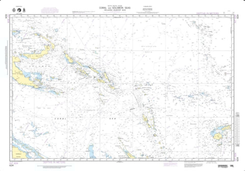 Buy map Coral And Solomon Seas (And Adjacent Seas) (NGA-604-5) by National Geospatial-Intelligence Agency