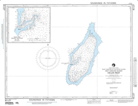 Buy map Helen Reef (West Caroline Islands) (NGA-81127-2) by National Geospatial-Intelligence Agency