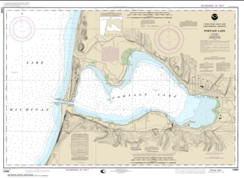 Buy map Portage Lake (14939-23) by NOAA