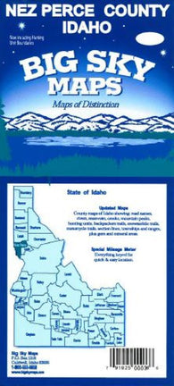 Buy map Nez Perce County, Idaho by Big Sky Maps