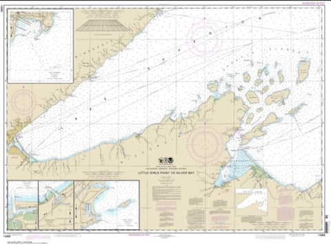 Buy map Little Girls Point to Silver Bay, including Duluth and Apostle Islands; Cornucopia Harbor; Port Wing Harbor; Knife River Harbor; Two Harbors (14966-28) by NOAA