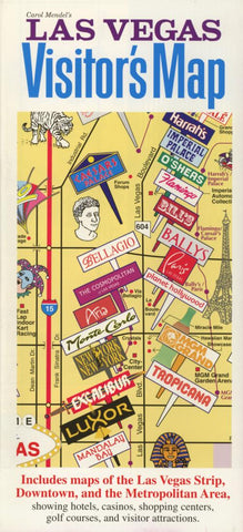 Buy map Las Vegas, Nevada, Visitors Map by Carol Mendel