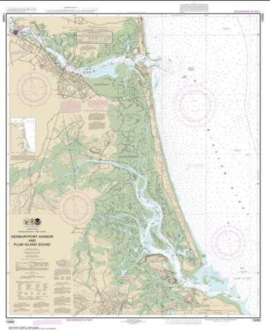 Buy map Newburyport Harbor and Plum Island Sound (13282-12) by NOAA