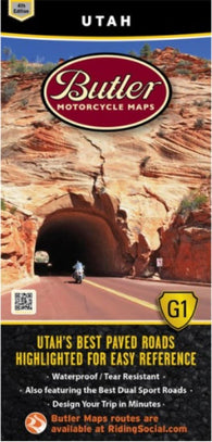 Buy map Utah G1 Map by Butler Motorcycle Maps