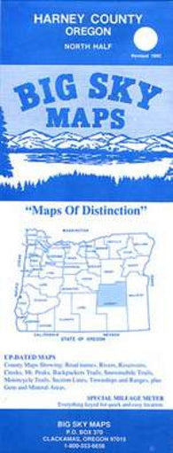 Buy map Harney County, Oregon, North by Big Sky Maps