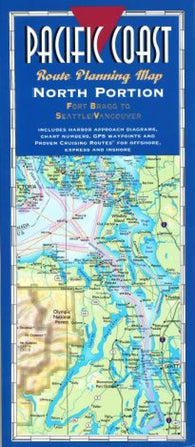 Buy map Pacific Coast, North, Fort Bragg to Seattle by Fine Edge