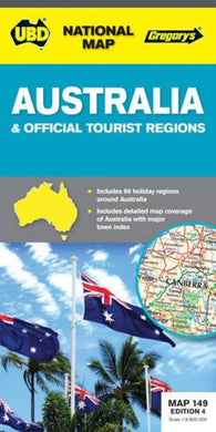 Buy map Australia by Universal Publishers Pty Ltd