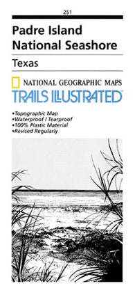 Buy map Padre Island National Seashore, Map 251 by National Geographic Maps