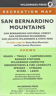 Buy map San Bernardino, California Mountain Trails by Wilderness Press