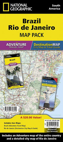 Buy map Brazil, Rio de Janeiro Map Pack Bundle by National Geographic Maps