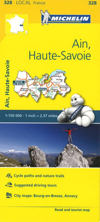 Buy map Michelin: Ain, Haute Savoie, France Road and Tourist Map by Michelin Travel Partner