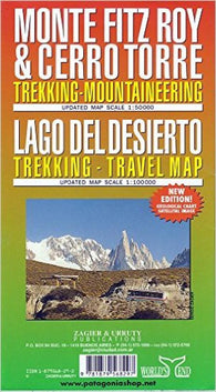 Buy map Monte Fitz Roy, Cerro Torre and Lago Del Desierto by Zagier y Urruty