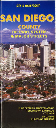 Buy map San Diego County, California, Freeway System and Major Streets by Global Graphics