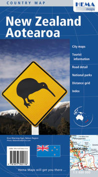 Buy map New Zealand by Hema Maps