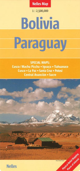 Buy map Bolivia and Paraguay by Nelles Verlag GmbH