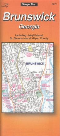 Buy map Brunswick, Georgia by The Seeger Map Company Inc.