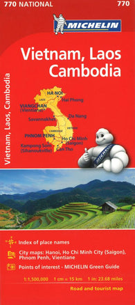 Buy map Michelin: Vietnam, Laos, and Cambodia Road and Tourist Map - by Michelin Travel Partner