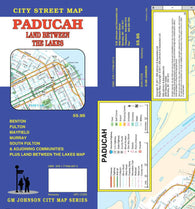 Buy map Paducah, Kentucky, with Land Between the Lakes by GM Johnson