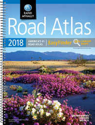 Buy map United States, Canada and Mexico, 2018 Midsize Deluxe Easy to Read Road Atlas by Rand McNally